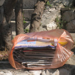 Papers set out for recycling in Croatia